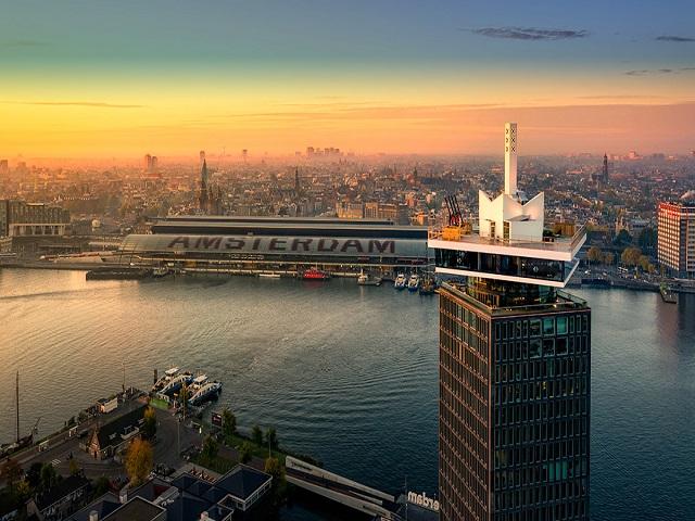 Amsterdam vista dall'alto
