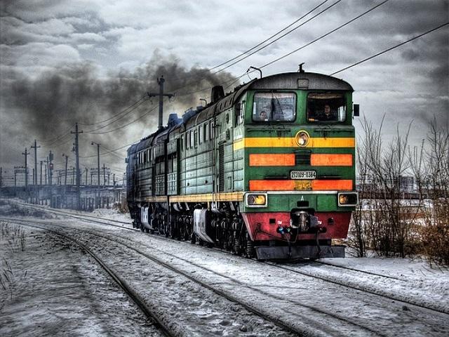 treno sulla neve